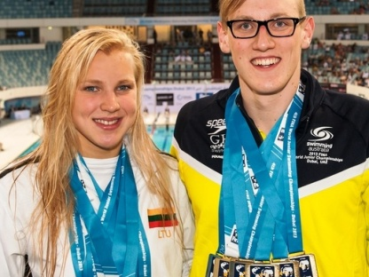 Ruta Meilutyte Lithuania best female performer  with four golds and two silver (L)