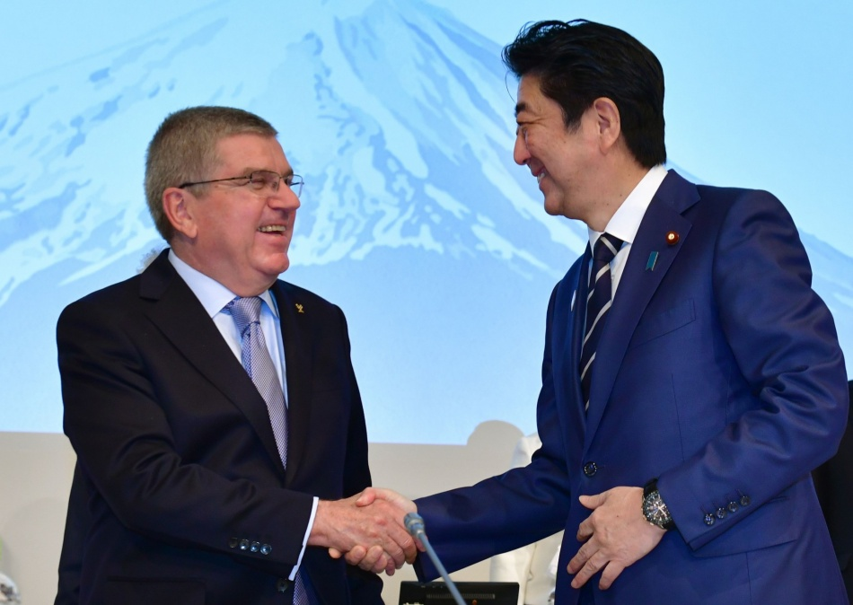 THOMAS BACH - SHINZO ABE